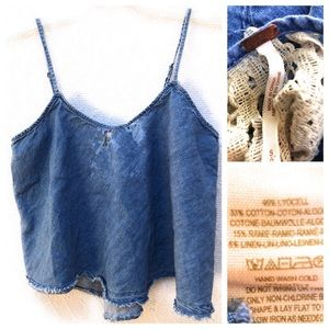 Free People Distressed Crop Canisole